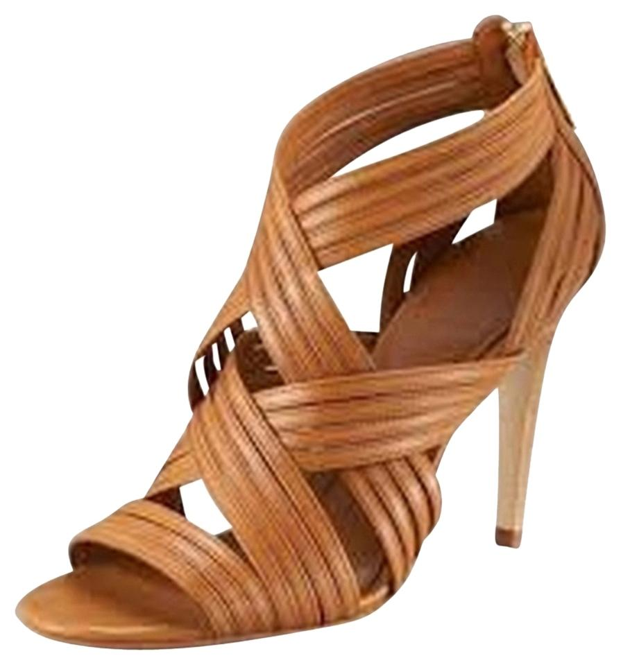 Tory Burch Caged Leather Sandals discount amazon clearance store cheap online BJqoNHLKn