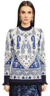 Tory Burch Tapestry Fringed Sweater