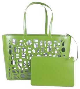 Tory Burch TB Cut-Out Leather Tote - Green Tote in Green