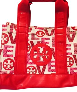 Tory Burch Tote in Red & White