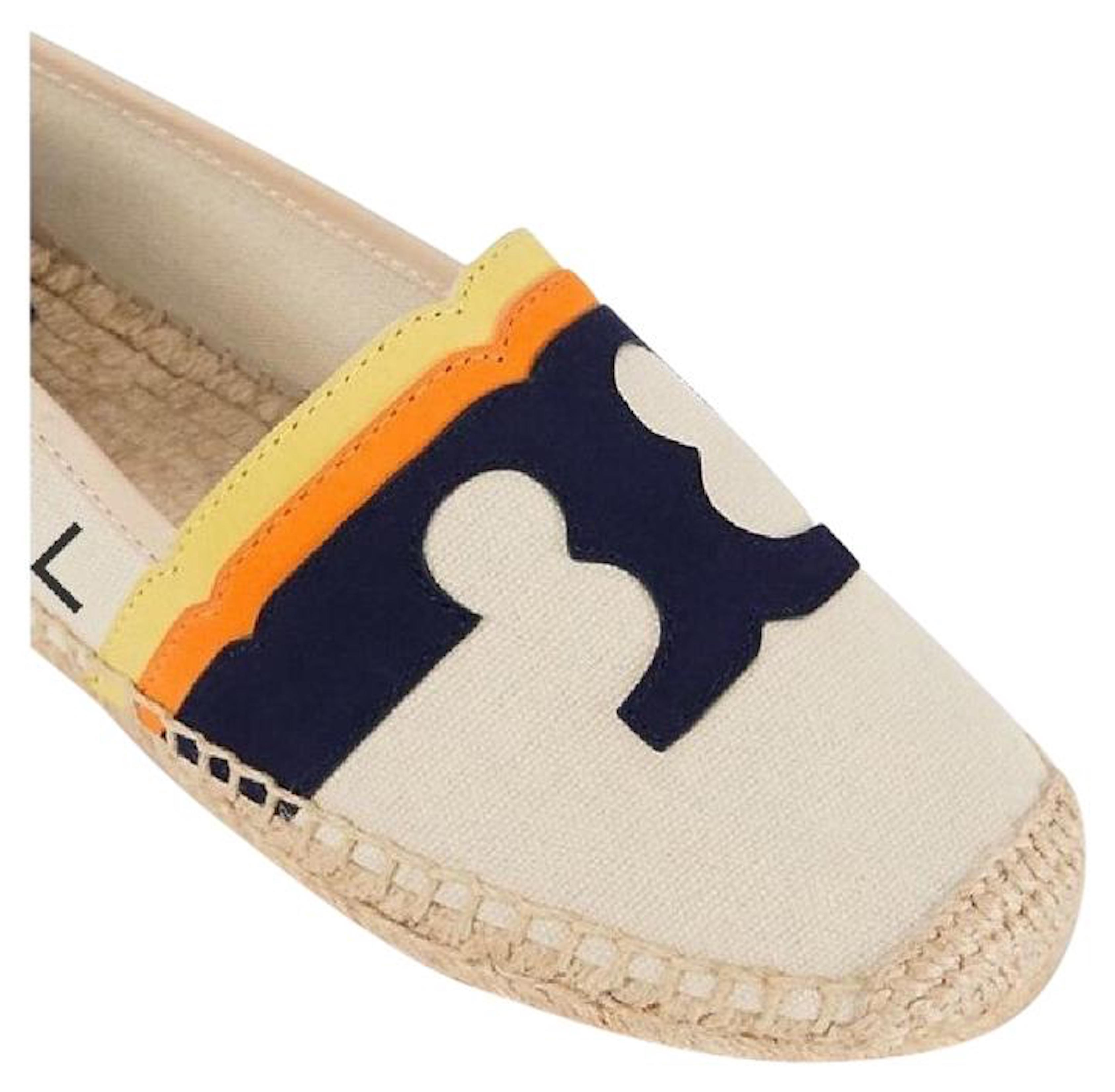 Tory Burch Leather Logo Espadrilles w/ Tags find great cheap online order for sale pay with paypal online ttaoWiT9C
