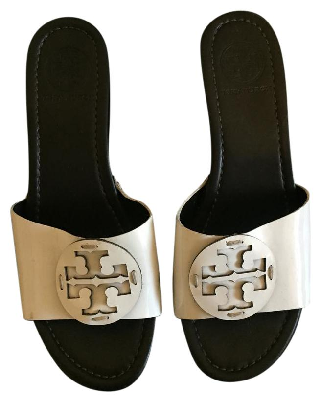 les plates - formes taille de cuir blanc coin tory burch ordinaires taille formes us m, b cf9b35