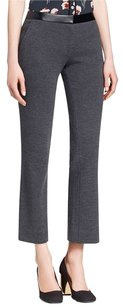 Tory Burch Wool Wool Blend Ankle Length Knit Fitting Straight Pants Grey