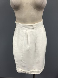 Tracy Reese Linen Blend Skirt Ivory