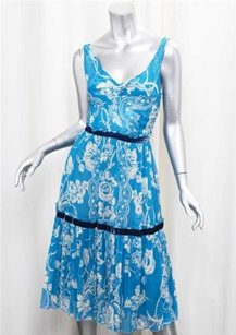 Tracy Reese short dress Blue Womens Aqua Print on Tradesy