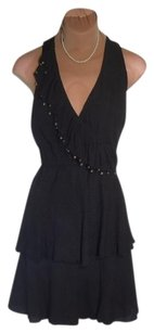 Tracy Reese short dress BLACK Size S Tiered Skirt Priced To Sell Fast Shipping on Tradesy