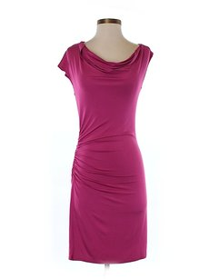 Trina Turk Cowl Neck Ruched Sheath Dress