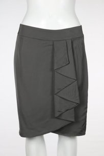 Trina Turk Womens Skirt Slate Gray