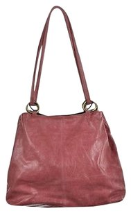 Trina Turk Womens Leather Distressed Handbag Crossbody Satchel in Pink