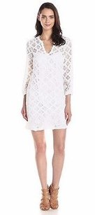 Trina Turk short dress White Clair Crochet Shift 210553f on Tradesy