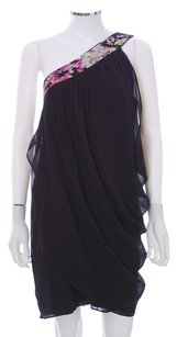 Trina Turk Silk Sequin One Shoulder Dress