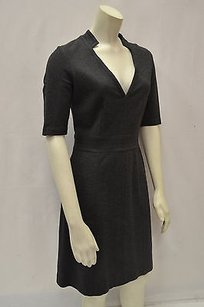 Trina Turk short dress Gray Julianna Charcoal V Neck Knit 160158f on Tradesy