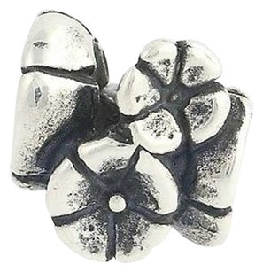 Trollbeads Trollbeads Charm - Sterling Silver Forget Me Knot 11262 Floral Bead 925 Laa