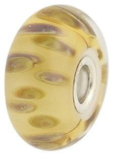 Trollbeads Trollbeads Charm - Drifting Seeds 61406 Sterling Silver Murano Glass Yellow