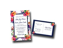 Tropical Wedding Invitation / Floral Wedding Invitation/unique Wedding Invitations/wedding Shower Invitations