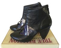 True Religion Bootie Ankle Leather Black Boots