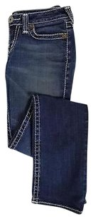True Religion Womens Solid Denim Blend Casual Trousers Pants