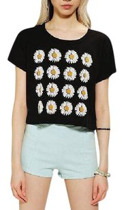 Truly Madly Deeply Black Crop Ss Top