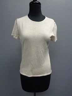TSE Stretchy Short T Shirt Cream