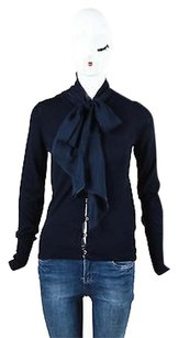 Tuleh Navy Cashmere Silk Sweater