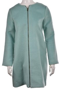 Tulle Womens Basic Textured Casual Polyester Jacket Coat