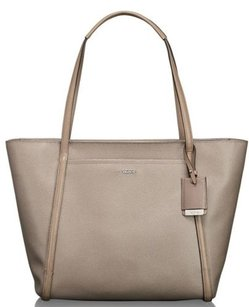 Tumi Sinclair Coated Canvas Tote in Beige
