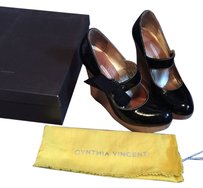 Twelfth St. by Cynthia Vincent Mary Jane Wedge Platform Black Wedges
