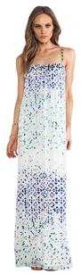 White Maxi Dress by Twelfth St. by Cynthia Vincent Beaded Spaghetti Strap Printed Maxi