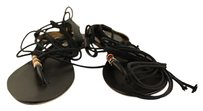 Twelfth St. by Cynthia Vincent Womens Sandals Leather Beaded Black Pumps