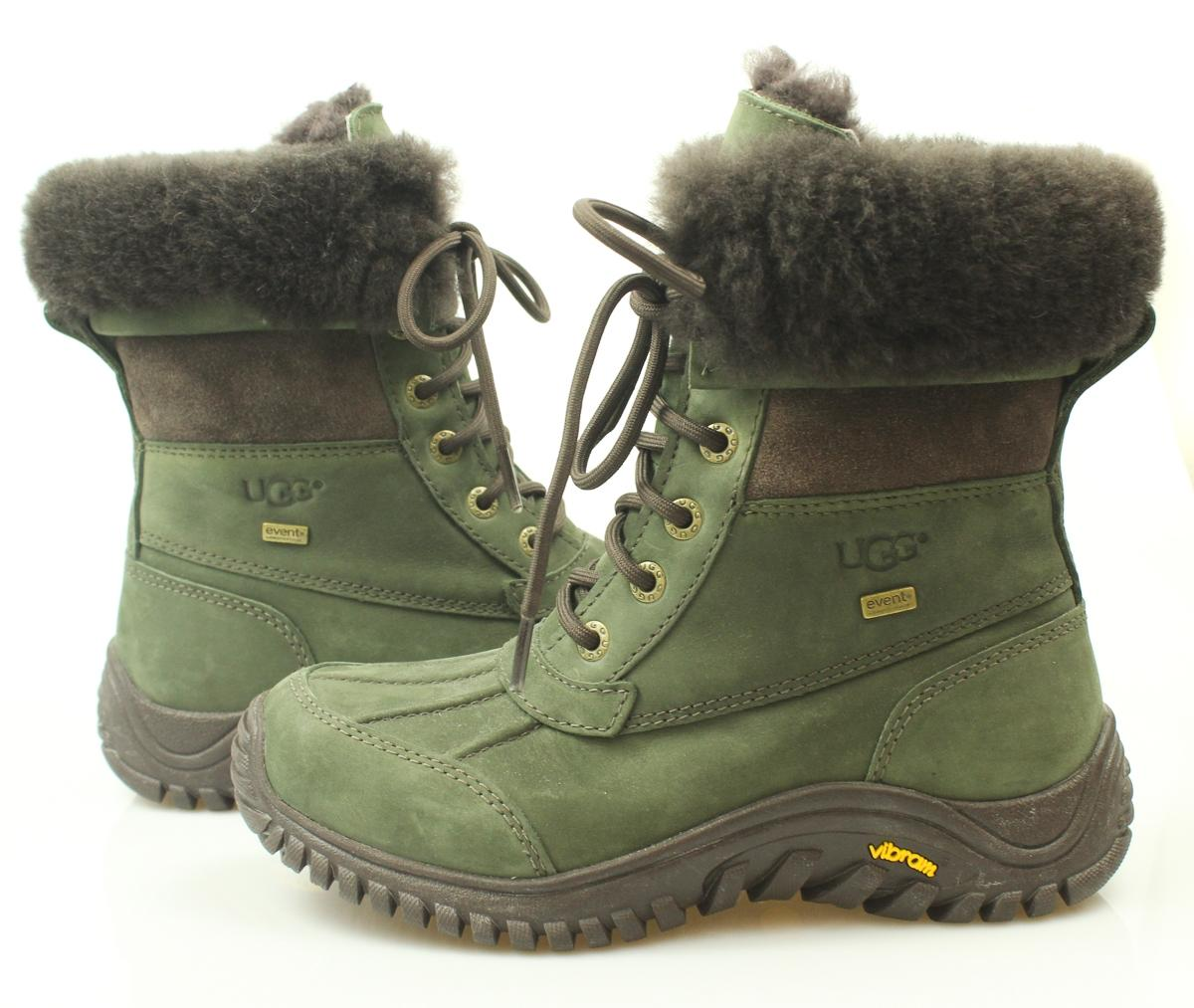 UGG Australia Fur Winter Casual Army Green Boots. 1234567891011