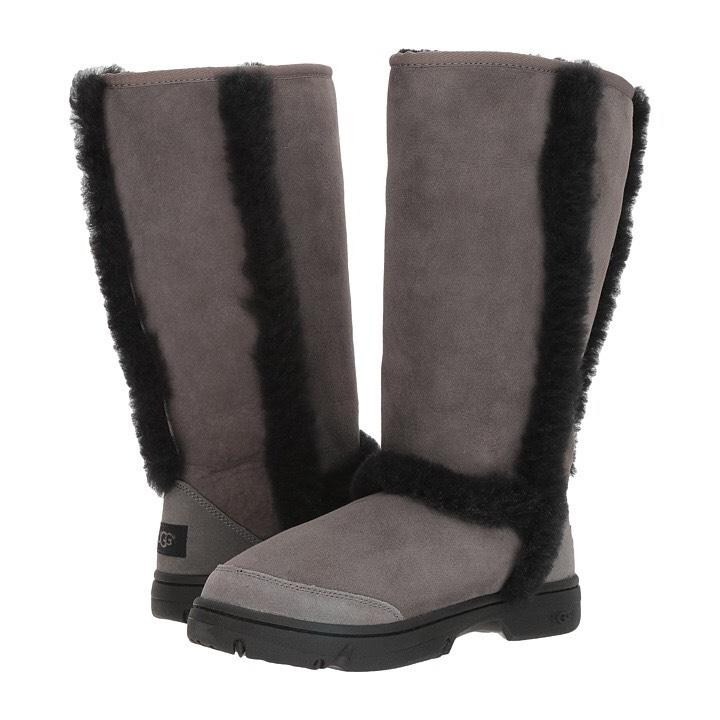 black and grey sunburst uggs