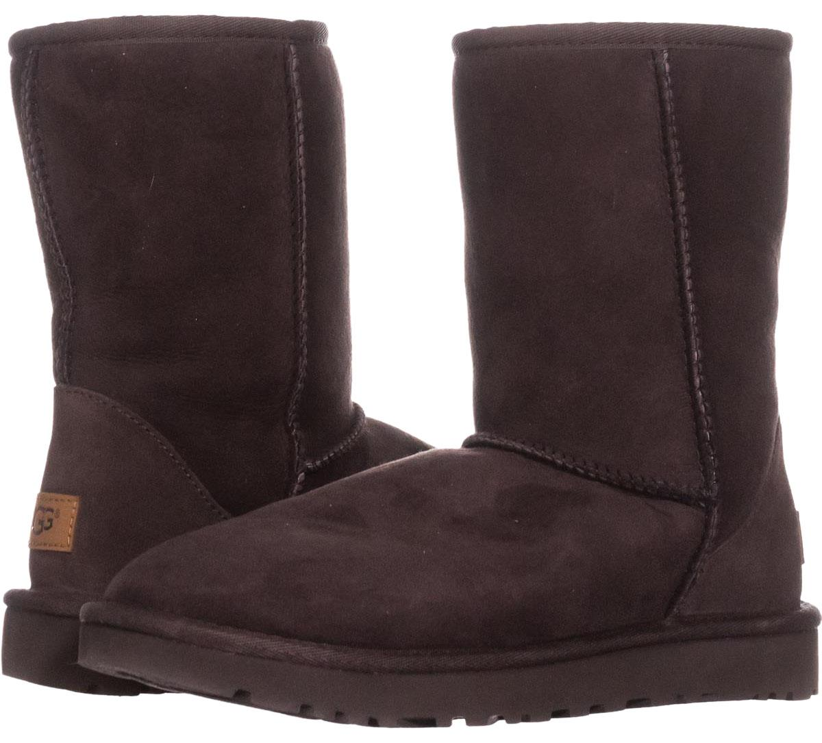 ugg classic short chocolate brown