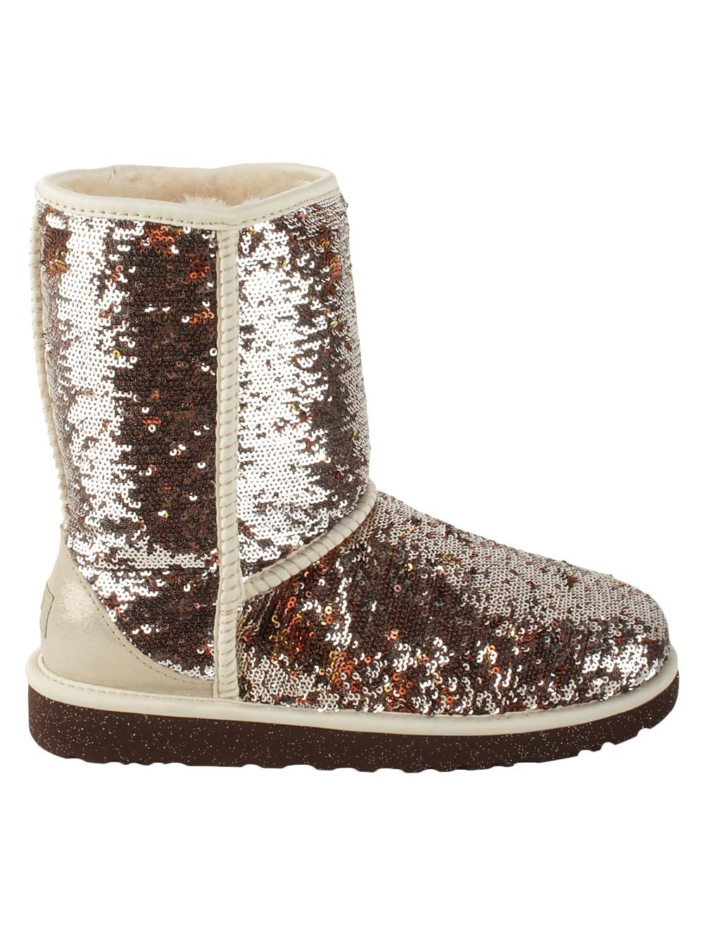 UGG Australia Champagne Sequin Metallic Classic Boots/Booties