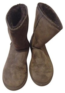 UGG Australia Classic Preppy Suede Sheepskin CHOCOLATE BROWN Boots