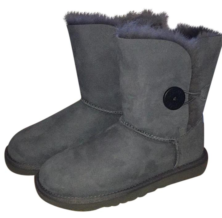 UGG Australia Uggs Winter Bailey Button Grey Boots ...