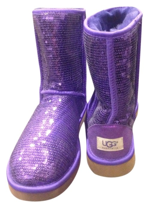 UGG Australia Uggs Limited Edition Purple Sequin Boots ...