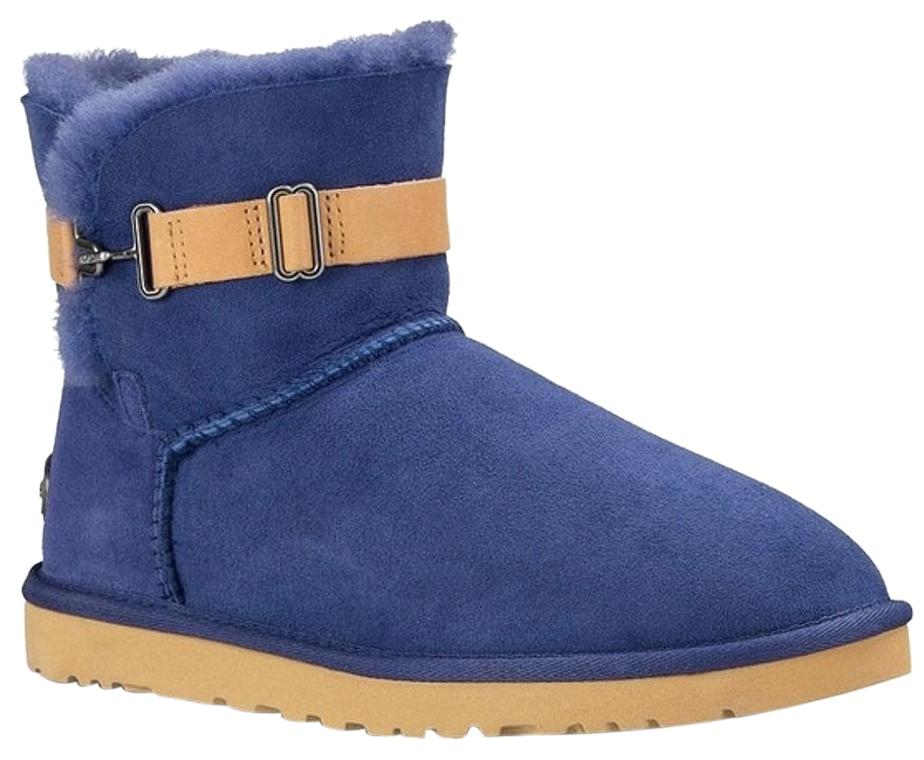 UGG Australia New With Tags Shearling Racing Stripe P Blue Boots ...