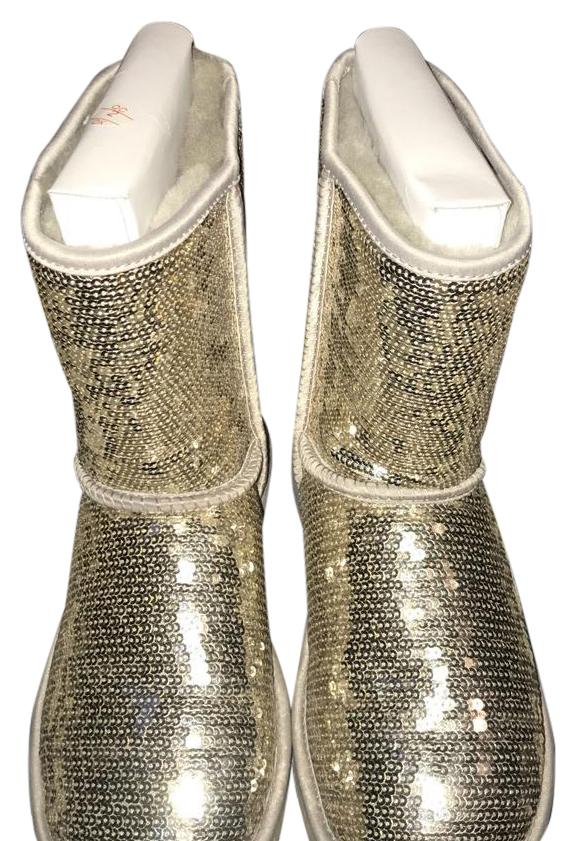 silver sequin ugg boots