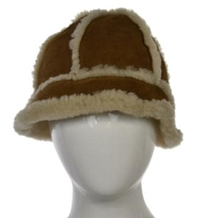 UGG Australia Ugg Womens Tan Striped Bucket Hat One Leather Casual