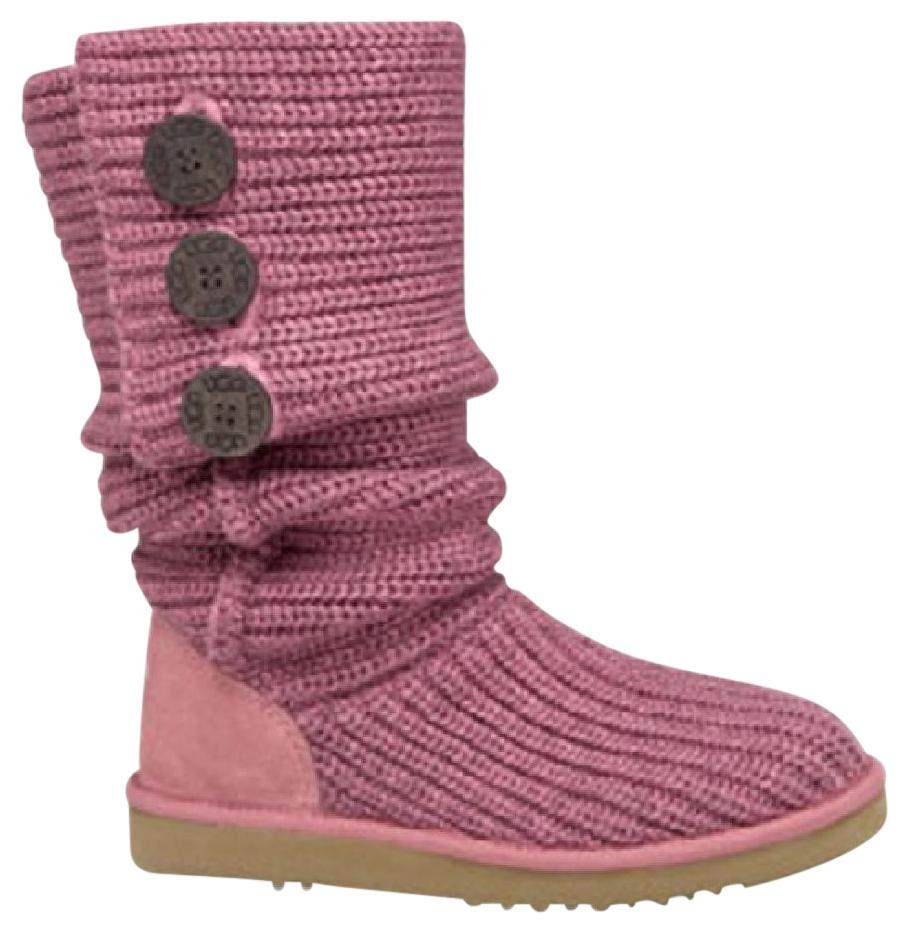 UGG Australia Uggs Cardy Sweater Knit Rose Boots
