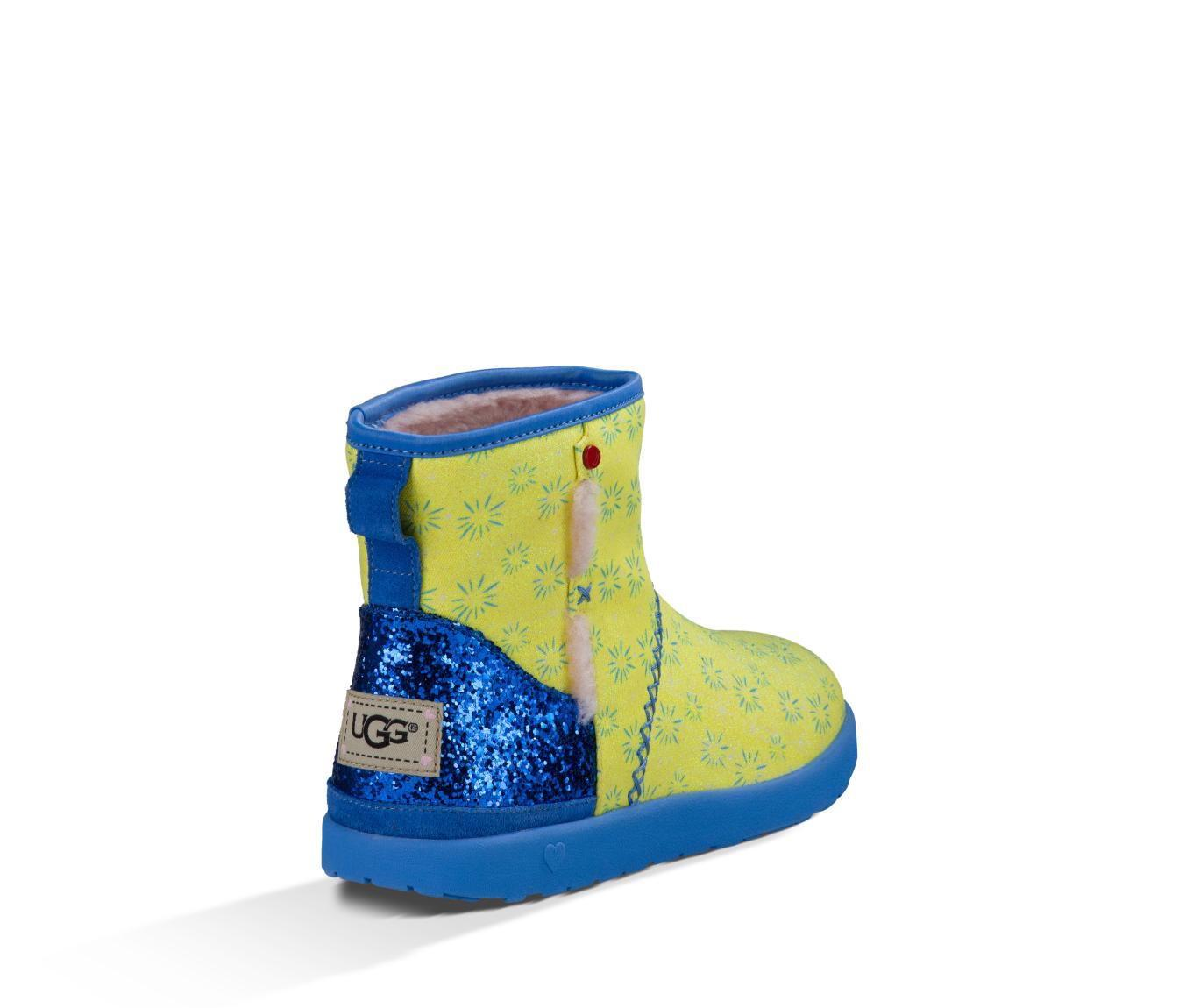 UGG Australia Yellow and Blue I Heart Disney Pixar Inside Out Girls Slip On Joy Boots/Booties Size US 4 Regular (M, B) - Tradesy