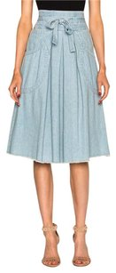 Ulla Johnson Dinan Fade Skirt Blue