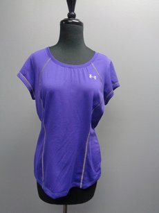Under Armour Under Armour Rue Stretchy Purple Short Sleeved Stretchy Athletic Top Sm2646