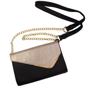 Under One Sky Vegan Reversible Faux Leather Chain Gold Hardware Shoulder Bag