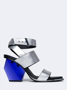 United Nude Ankle-strap Heels-and-pumps Lit Metallic Leonahisilver-7 Black Sandals