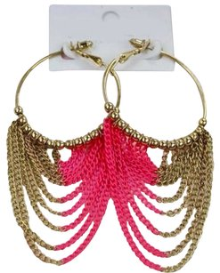 Unknown Pink & Gold Hoops