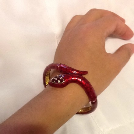 Other Stretchy Red Snake Bracelet