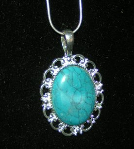 Long Turquoise Necklace Free Shipping