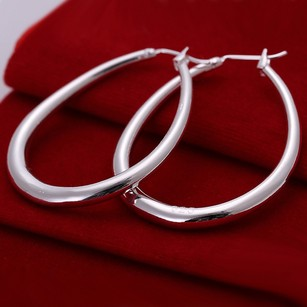 Quality Silver Hoop Earrings Free Shipping