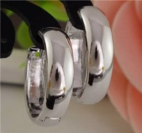 Thick Silver Hoop Earrings Free Shipping